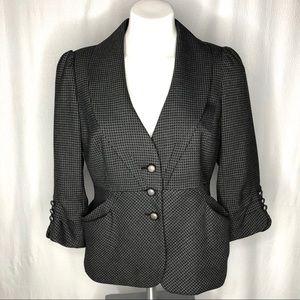 Classiques Entier Gray/Black Blazer 3/4 Sleeves